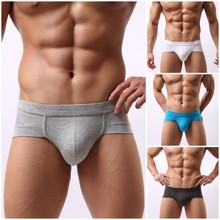 New Arrival Hot Sale Men Modal Briefs Male Low Waist Sexy Underwear Underpants U Convex Pouch Boy Breathable Shorts Bottoms(China (Mainland))
