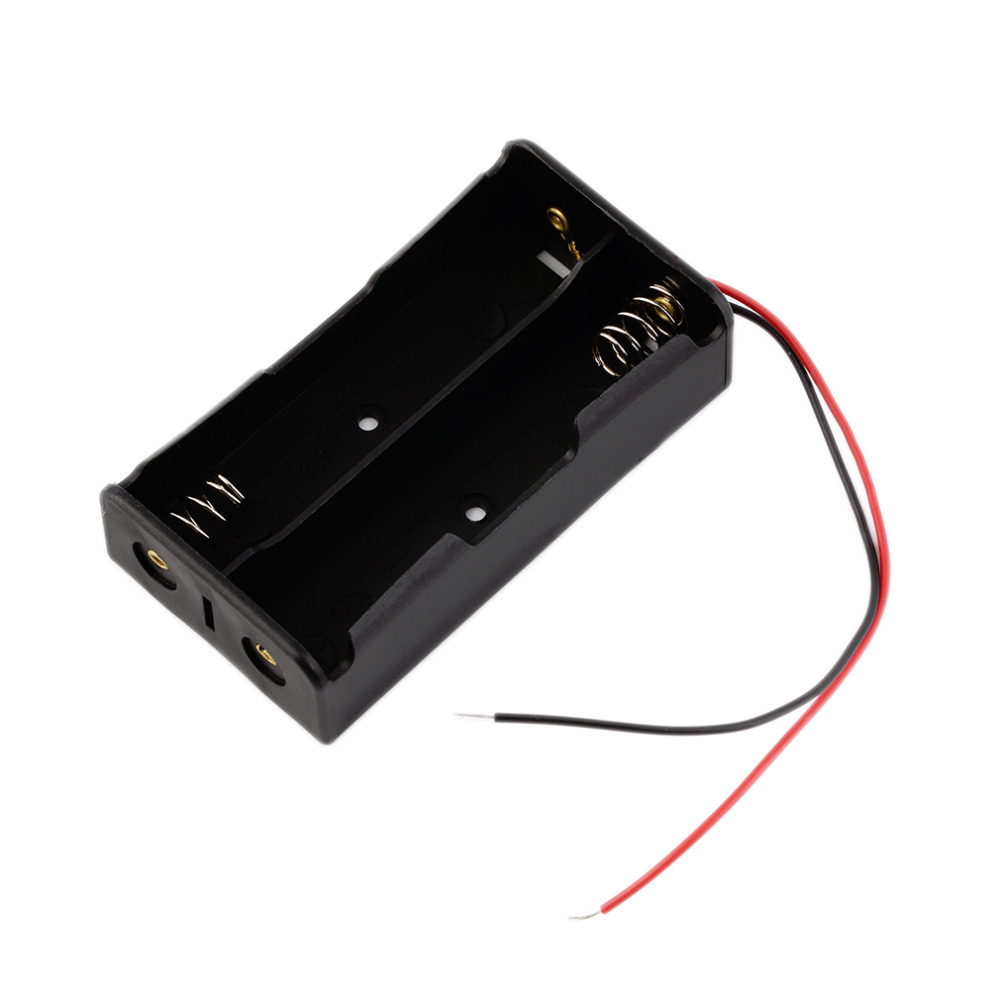 Battery Storage Case Plastic for 2 x 18650 Box Holder Black With Wire Lead  hot new<br><br>Aliexpress