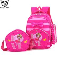 Buy BAIJIAWEI Children Backpacks Primary Students Backpack Boys Girls School Bags Waterproof Schoolbag Kids Mochila Infantil Zip for $21.99 in AliExpress store