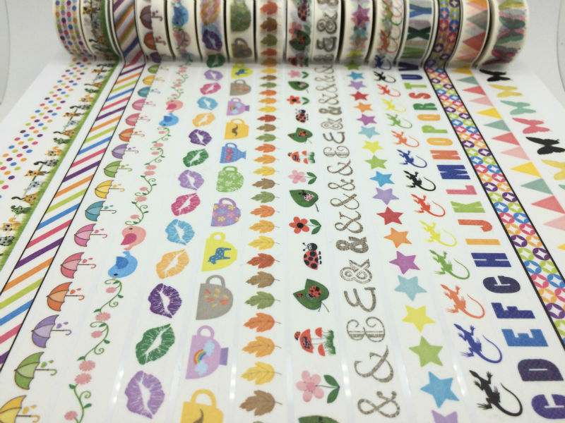 2033 ! new patterns Free shipping Mix Order 40pc/lot best selling paper masking Tape, Japanese style deco tape christmas(China (Mainland))