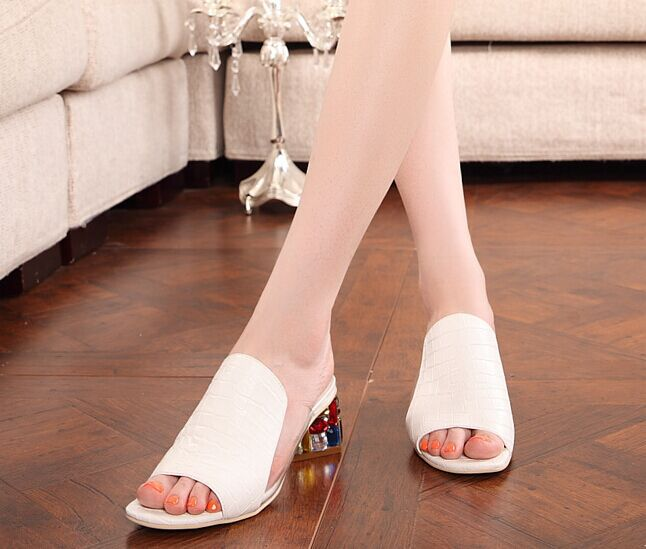 Free Shipping 2014 Fashion Summer Women Shoes Beach Shoes Summer Sandals Slides Size 35~40
