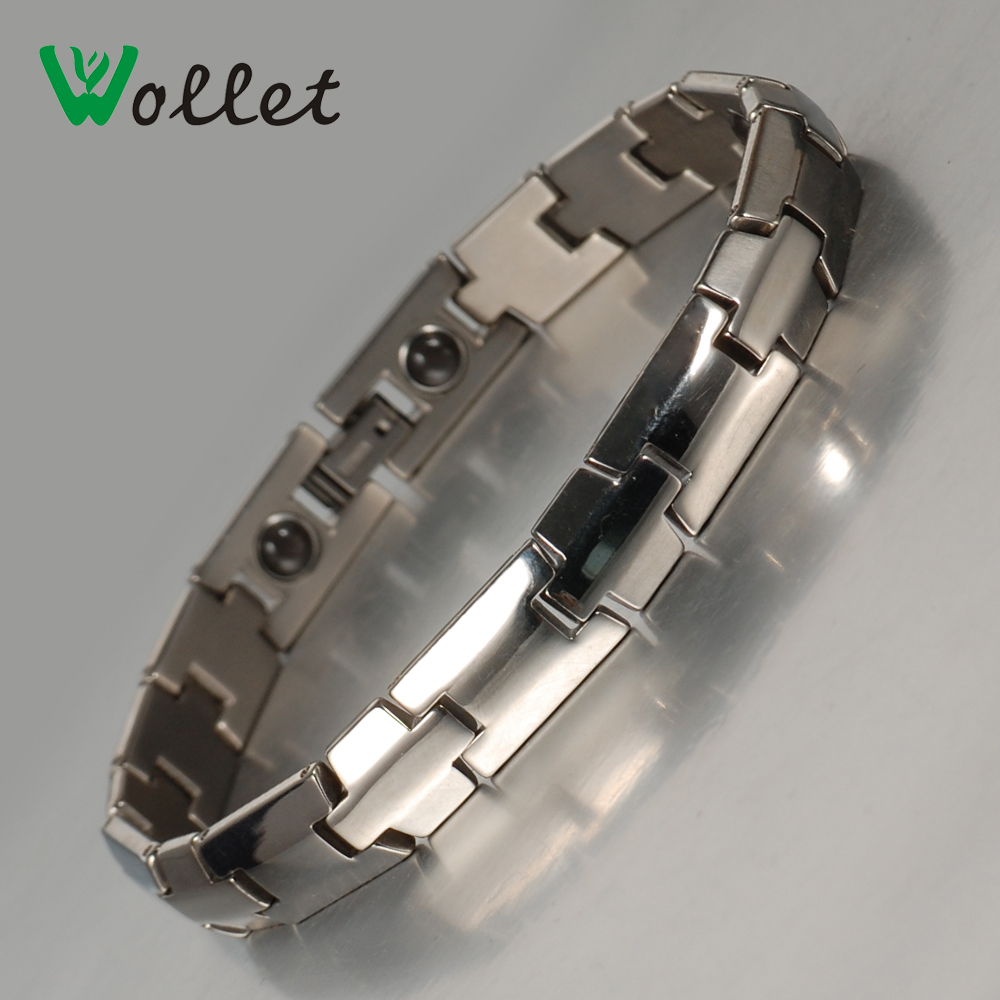 Wollet Jewelry Women Health Energy AFAS Stone Titanium Bracelet Power Bracelet Men Anti-fatigue Sport Gift For Friendship(China (Mainland))