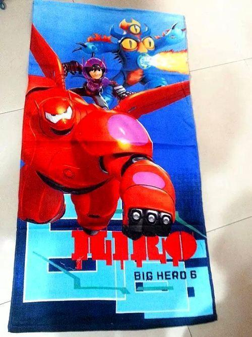 120*60cm Cartoon Towels Big Hero 6 baby bath towel Children Beach Towel baymax bot fight Girls Bikini Covers - Best Gift(China (Mainland))