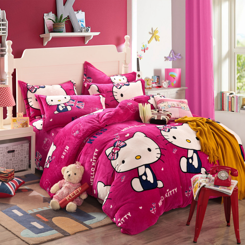 hello kitty linens and bedding pink forter sets cheap