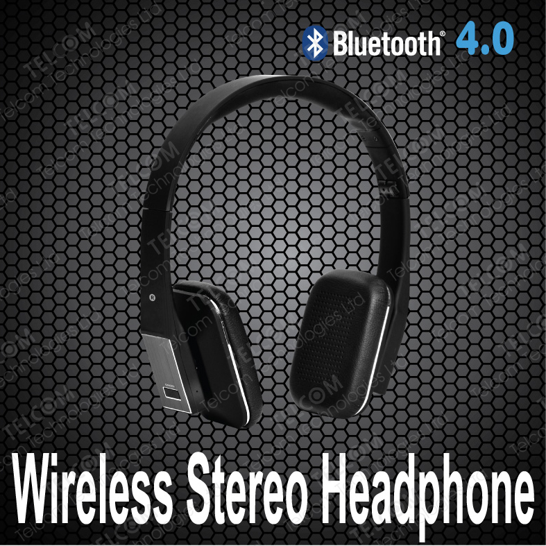 Free Shipping , Wireless Bluetooth stereo headset headphone with mic for cellphone ,PC ,MP3 MP4, wireless headphone1 Piece order<br><br>Aliexpress