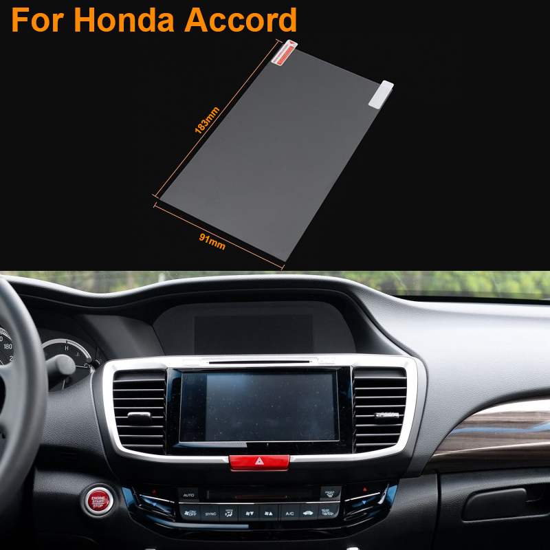 Car Styling 8 Inch GPS Navigation Screen Steel Protective Film For Honda Accord Control of LCD Screen Car Sticker(China (Mainland))