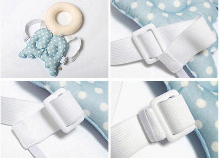 Girls Boys Baby Safe Head protection pad Toddler BB headrest pillow baby Babies neck Cute wings nursing drop resistance cushion