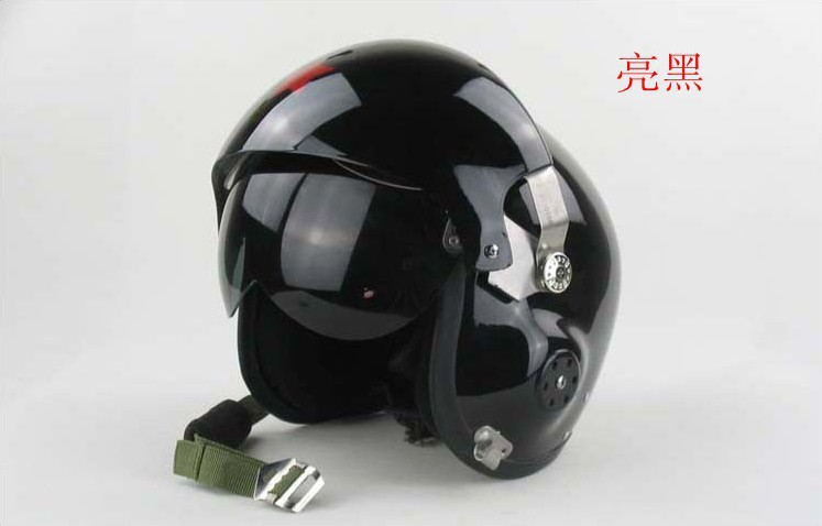 Ajing Bright black helmet , Red Star Pilot Helmet Motorcycle Motorcross Racing Crash Helmet Dual Visor Free Size Dropship(China (Mainland))