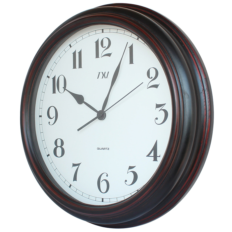 Continental wood wall clock watch creative fashion living for Modern living room clocks