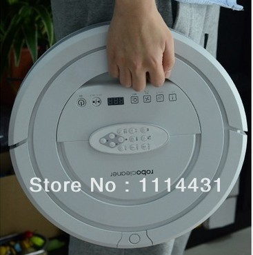 2014 New Coming Intelligent Robot House vacuum cleaner ,With 6 drop sensors to Anti-fall, 2pcs side brushes,2pcs rolling brushes(China (Mainland))
