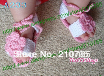 Baby Girl Sandals Crochet, handmade crocheted baby shoes, for Spring and Summer 50pairs Free Shipping