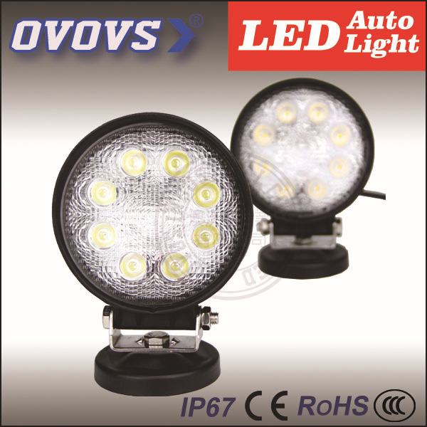 OVOVS China supplier wholesale auto part 12v 24w led offroad work light with waterproof shockproof(China (Mainland))