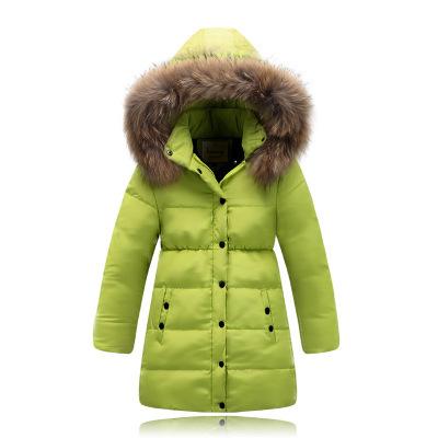 4-14Y Baby Girls Winter Coat New Chidren Jackets Duck Down Kids Winter Jackets for Girls Outerwear Fur Collar Long Girls Jackets(China (Mainland))