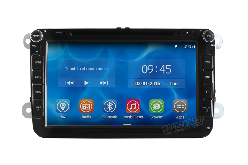 Quad Core Android 4.4.2 Radio VW Car DVD GPS Navi GOLF 6 new polo New Bora JETTA MK4 B6 PASSAT Tiguan SKODA OCTAVIA Fabia - MountainTop Technology Co.,LTD store