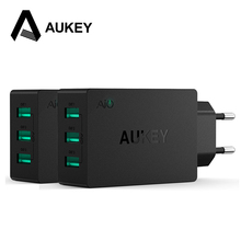 AUKEY 3-Port Universal USB Charger Portable Travel Wall Charger EU US Plug AiPower Adaptvive Mobile Phone Charger for Smartphone(China (Mainland))
