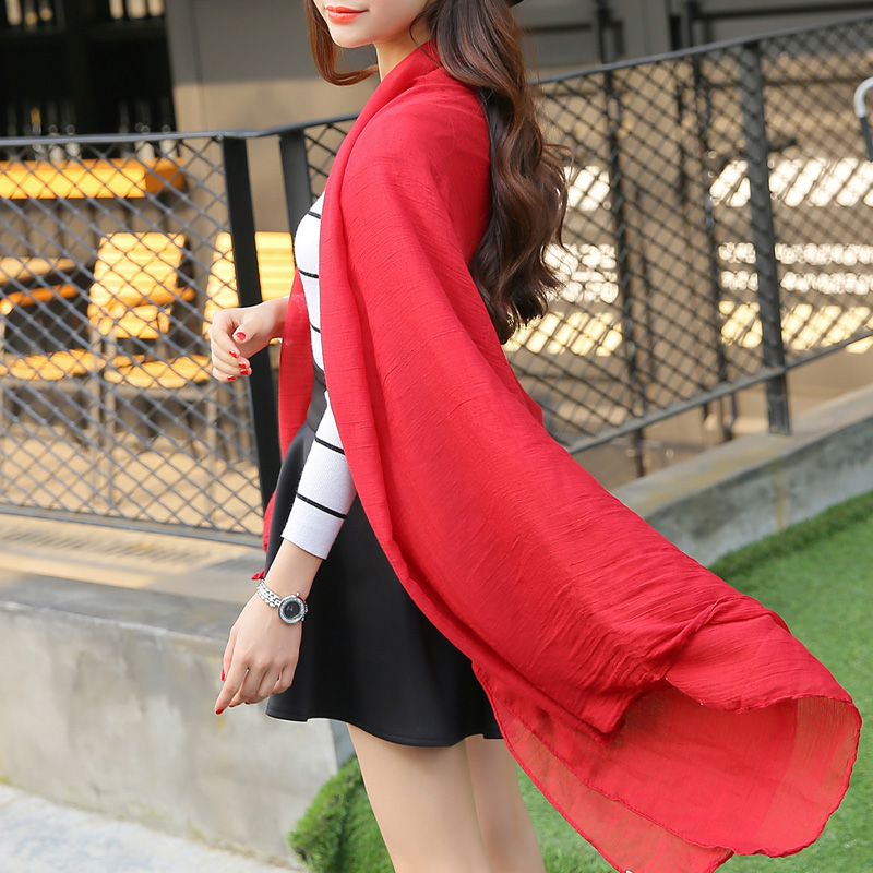 hot sale women long silk scarf cape broadened solid color plain super large chiffon scarf fashion shawl Imitation silk wrap-b102(China (Mainland))