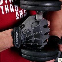 Brand men sport gym gloves weight lifting fingerless  gloves black workout  Equipment training gloves