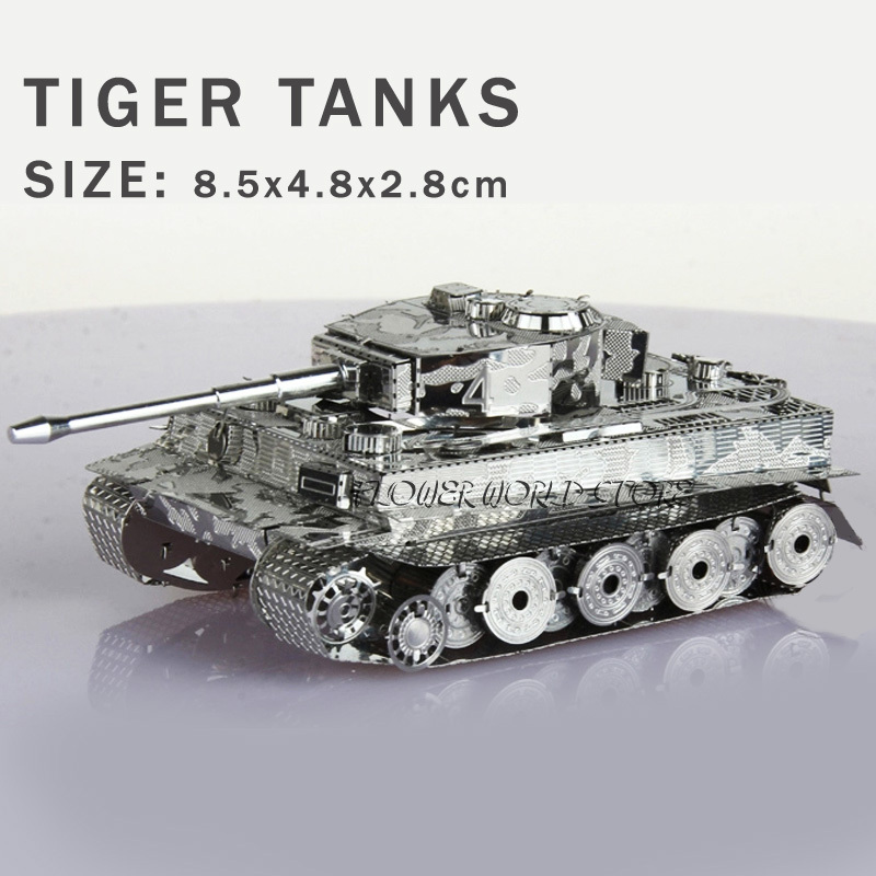 New creative Tanks 3D puzzles 3D metal model Tiger tanks Jigsaws Creative DIY Adult/Children gifts toys Perfect details And many(China (Mainland))