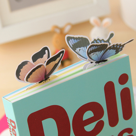 [ Special Offer ] New 14PCS 3D Butterfly Bookmark For Beautiful Birthday Gift Book Mark Christmas Gift(China (Mainland))