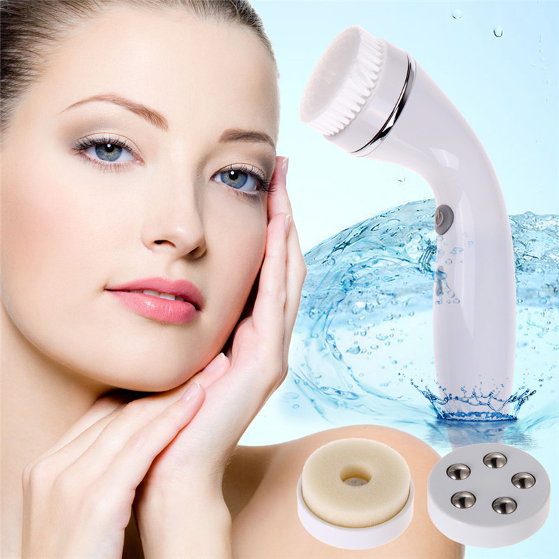 3-in-1 Facial Cleanser Face Skin Care Rolling Massage Facial Cleansing Brush Women Facial Skin Care Cleansing free shipping