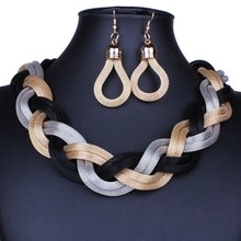 2015 New Fashion Vintage Necklace Jewelry Metal Choker Necklace Women Statement Necklace Chunky Chain DFX 736