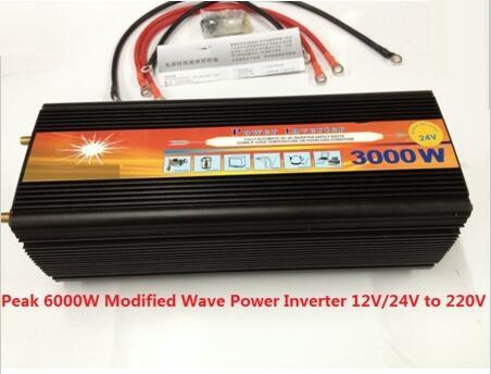 free fast shipping DHL FEDEX UPS express dc input 12v to ac output 220v 50hz 3000w peak power 6000W power inverter(China (Mainland))