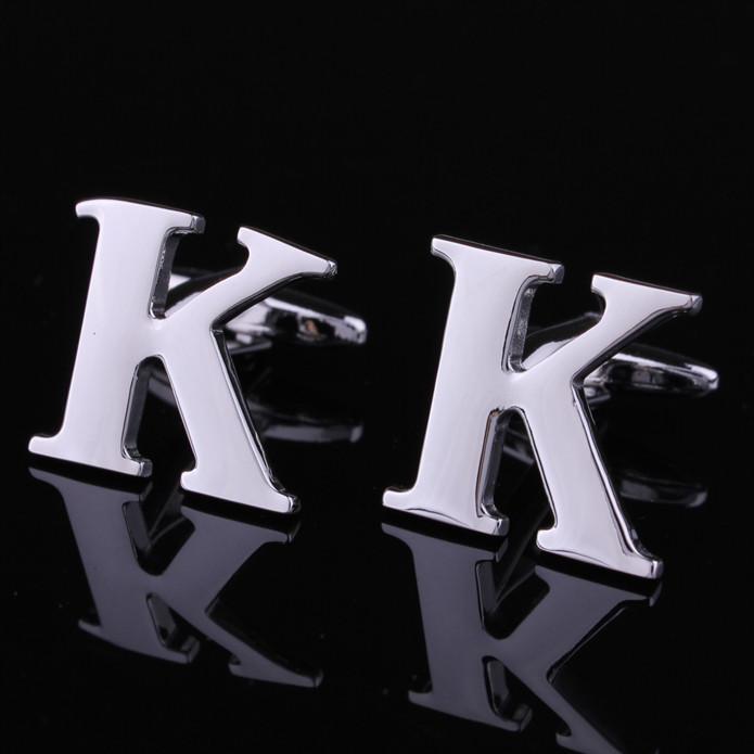 A forma da letra K abotoaduras abotoaduras de casamento de moda abotoaduras Hot(China (Mainland))
