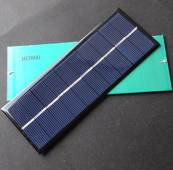 Wholesale 1.3W 5V Solar Cell Solar Module Polycrystalline Solar Panel For Battery Charger 163 *60* 3MM 30pcs/lot Free Shipping(China (Mainland))