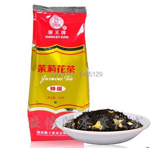 100g Monkey King Jasmine tea flower tea Hunan scented tea Chinese grestest Famous brand tea lose