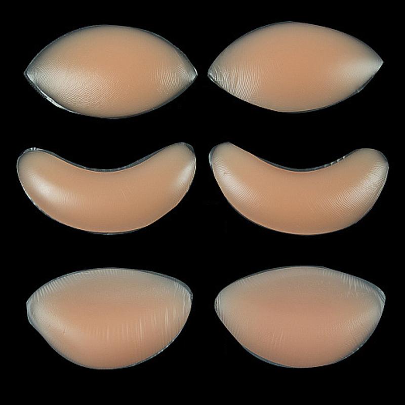 1Pair Breast Enhancer Push Up Padded Bra For Women Silicone Gel Bra Insert Pads Bikini Swimwear Invisible Pad Support 3 Types(China (Mainland))
