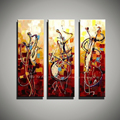 Vertical music art knife painting canvas abstract modern 3 piece canvas wall art picture famous figure