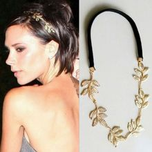 Cheap fashion Jewelry bijoux de tete Indian Olive Leaf diademas Gold hoop for hair jewelry wedding headband for women CF012