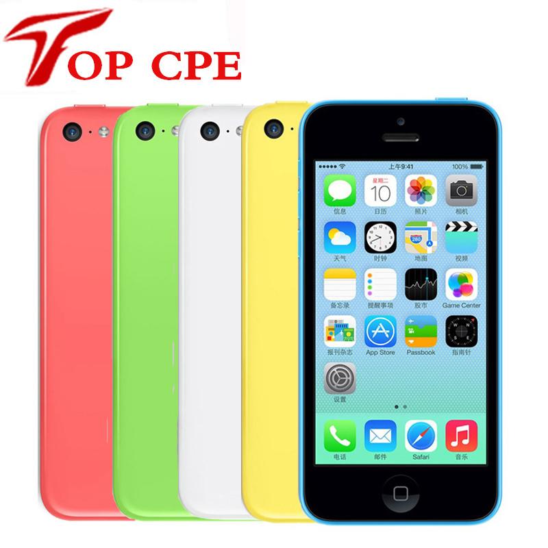 Original iPhone 5C 16GB 32GB 8GB Factory Unlocked 3G dual core WCDMA WiFi GPS 8MP Camera 4.0 inch IOS iCould Used Mobile phone(China (Mainland))