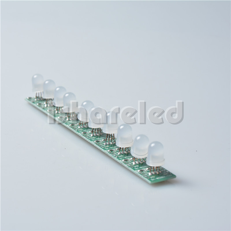 50pcs T1515 IC WS2801 led digital pixel modules ,full color,8mm diffused RGB LEDs,non waterproof,input DC 12V(China (Mainland))