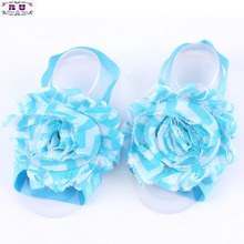 1 Pair of Baby Infant Newborn Barefoot Toddler Girls Foot Flower Band Newborn Girl Shoes First Walker Feet Accessories(China (Mainland))
