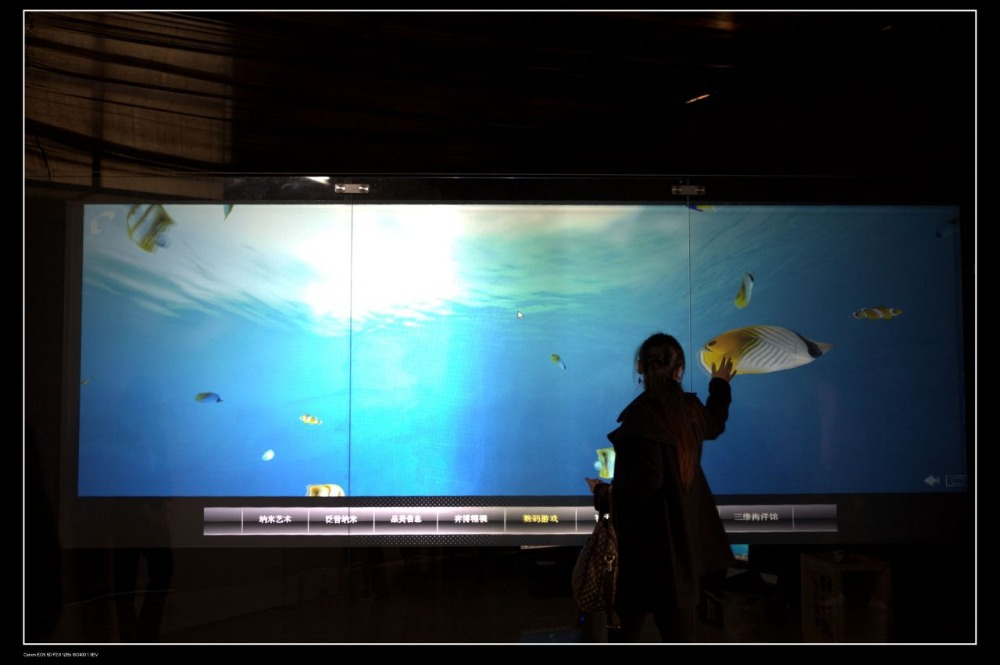 24 inch usb interactive touch foil film through glass usb touch foil 2 touch points touch