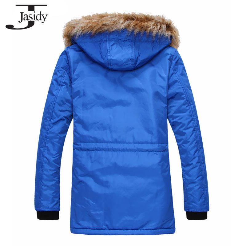 M 2XL Fashion Long Thick Hat Winter parkas Men Cotton Zipper Warm Winter Coat Men Solid