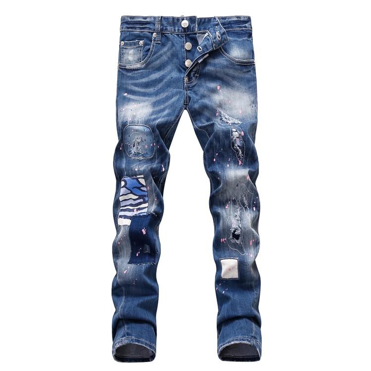 new fashion designer mens dsq jeans men casual ripped