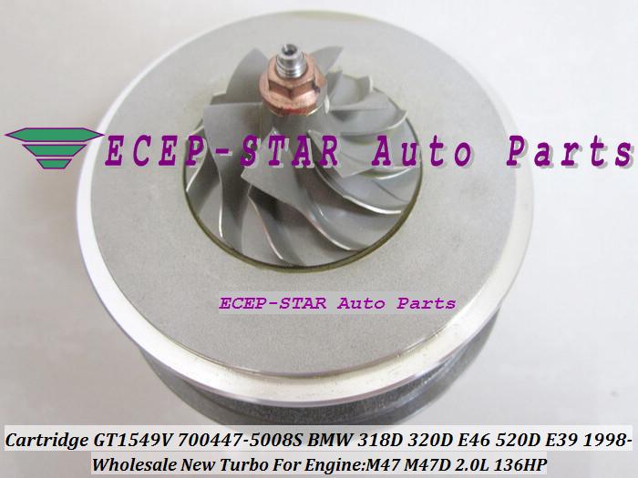 Turbo CHRA Cartridge Turbocharger Core GT1549V 700447-5008S For BMW 318D 320D E46 520D E39 1998- M47 2.0L 136HP (4)