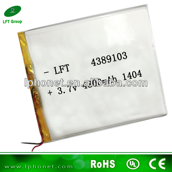 3.7v high capacity li-ion batteries/ 3.7v 4800mah li-ion rechargeable batteries/cheap tablet pc with long battery life 4389103(China (Mainland))
