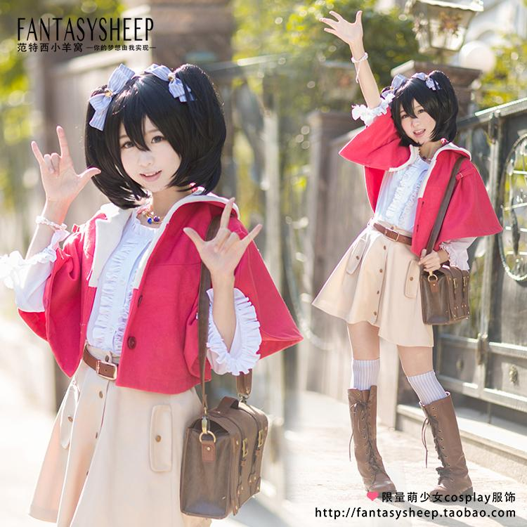 LoveLive! Cosplay Yazawa Nico Costume Lovely Walking Dress Daydress Womens Wear Fancy Dress Casual Wear Free ShiipingОдежда и ак�е��уары<br><br><br>Aliexpress