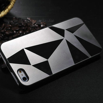 Luxury aluminum Case for Iphone 5s Two-tone hybrid Mirror Metal back Cover for iphone5g with PC hard case for iphone5s
