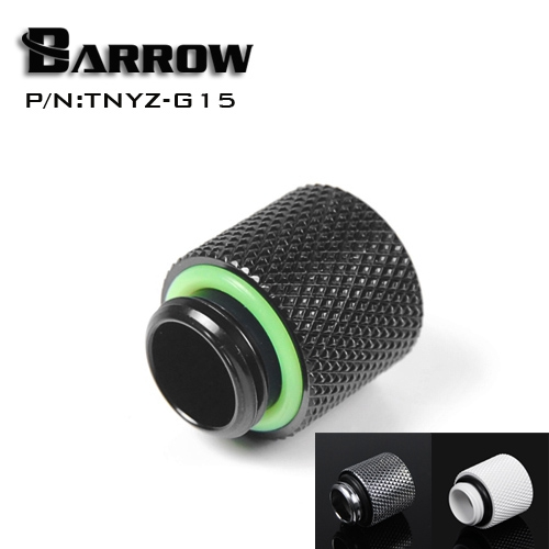 Barrow G1 / 4 ' Black extension Female thread screw seat (extended 15MM) computer water cooling accessories TNYZ-G15()