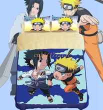 Cool NEW  Naruto fitted sheet bedding set  anime king size bed comforter sets /quilt cover  kids bedroom set(China (Mainland))
