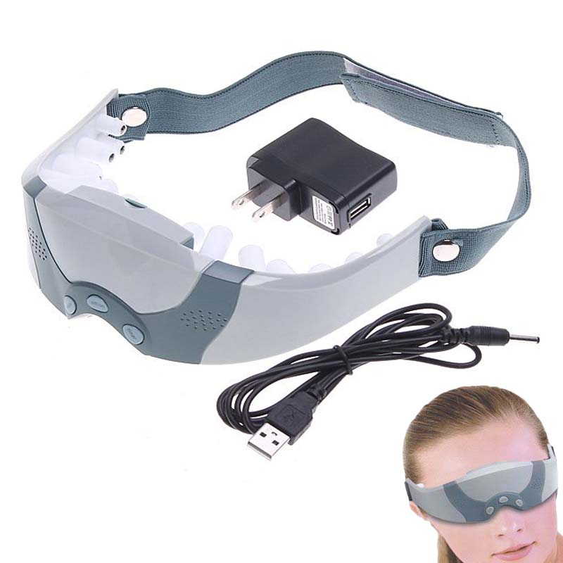 Personal Electric eye care vision massage mask acupuncture eye massager device machine 3 Modes relaxing health Beauty relaxation(China (Mainland))