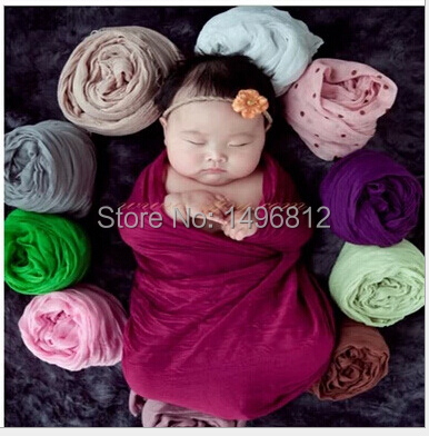Children's photography props take pictures during the day wrapped in cloth,, blanket multi-color optional scarves cloth(China (Mainland))