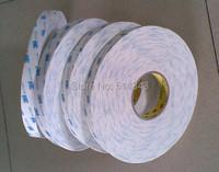 ленты 3m 1600t белый pe пена Скотч двойной Двусторонняя пена, толщиной 1,0 мм, размер 12 мм x 30 м, 10pcs/lot