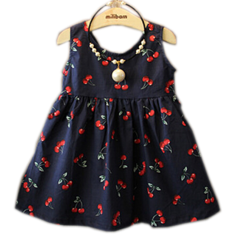 2-11 Ages Baby Girl Dress Summer Kids Teenagers Sleeveless Cotton Dresses Clothes For Girls 2016 Children Toddler Vestidos(China (Mainland))