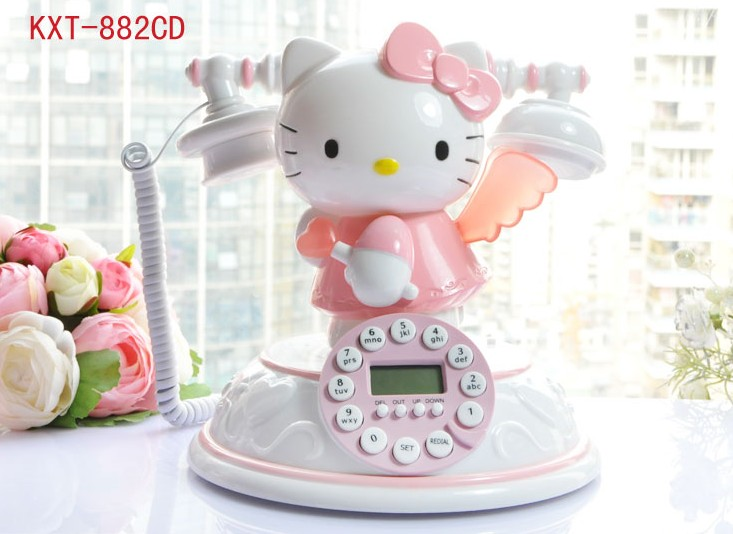 hello kitty home telephone reviews online shopping hello. Black Bedroom Furniture Sets. Home Design Ideas