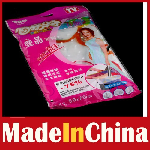 Fitness!! [MadeInChina] Space Saver Storage Bag Vacuum Seal Compressed 50 x 70 wholesale Drop-shipping(China (Mainland))